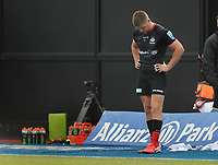 Rugby Union - 2019 / 202 Gallagher Premiership - Saracens vs Wasps<br /> <br /> Owen Farrell leaves the field  after receiving the red card from a tackle on Charlie Atkinson  at Allianz Park.<br /> <br /> COLORSPORT/ANDREW COWIE