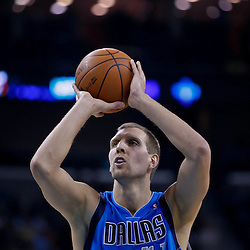 November 17, 2010; New Orleans, LA, USA; Dallas Mavericks power forward Dirk Nowitzki (41) of Germany shoots during the first quarter against the New Orleans Hornets at the New Orleans Arena. Mandatory Credit: Derick E. Hingle