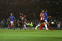 Football - 2019 / 2020 EFL Carabao (League) Cup - Portsmouth vs. Southampton <br /> <br /> Southampton's Nathan Redmond fires in goal number four to seal a convincing south coast derby at Fratton Park <br /> <br /> COLORSPORT/SHAUN BOGGUST