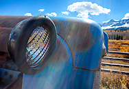 We'll be photographing some of the history of the region, like this antique tractor near Telluride, Colorado.