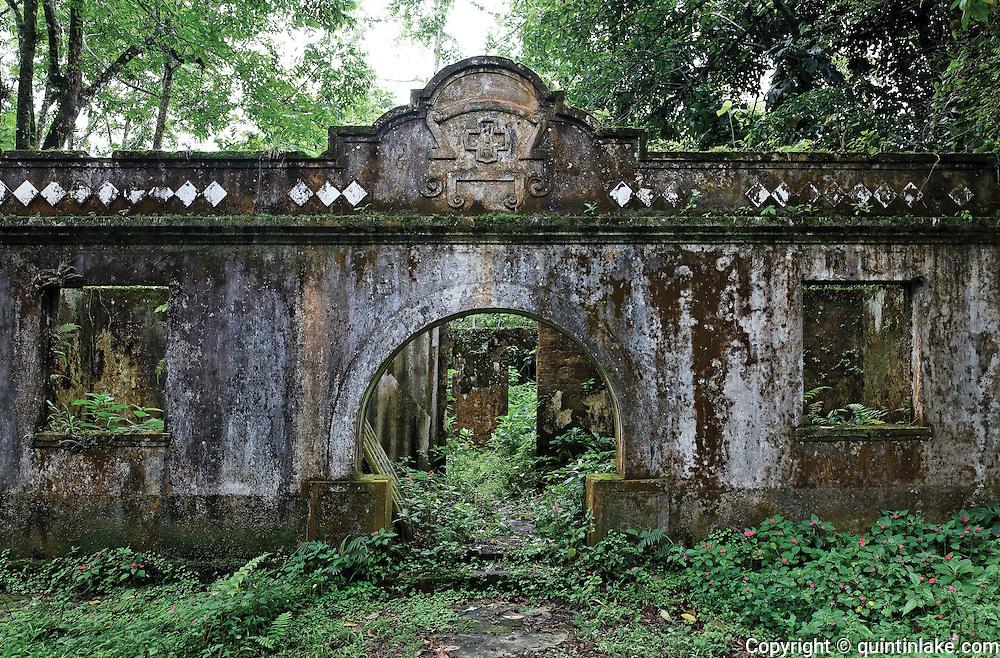 right: A derelict Portuguese hospital in the jungle above Cubatão. Brazil, 2008