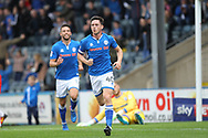 GOAL Ian Henderson celebrates the opening goal during the EFL Sky Bet League 1 match between Rochdale and Gillingham at Spotland, Rochdale, England on 23 September 2017. Photo by Daniel Youngs.