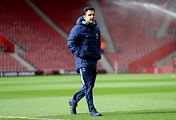Tottenham Hotspur's Assistant Manager Jesus Perez inspects the pitch prior to the beginning of the Premier League match at St Mary's Stadium, Southampton.