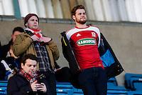 Middlesbrough fans<br /> <br /> Photographer Craig Mercer/CameraSport<br /> <br /> Football - The Football League Sky Bet Championship - Millwall v Middlesbrough - Saturday 6th December 2014 - The Den - London<br /> <br /> © CameraSport - 43 Linden Ave. Countesthorpe. Leicester. England. LE8 5PG - Tel: +44 (0) 116 277 4147 - admin@camerasport.com - www.camerasport.com