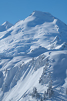 Mount Baker in winter seen from Artist Point on Kulshan Ridge. North Cascades