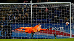 February 8, 2017 - Leicester, England, United Kingdom - Leicester City's Wilfred Ndidi scores their second goal  in Leicester City v Derby County FA Cup Fourth Round Replay at King Power Stadium. (Credit Image: © Andrew Boyers/Action Images via ZUMA Press)