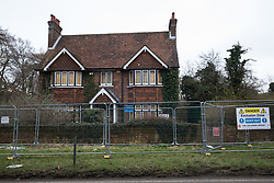 Wendover, UK. 18th March, 2021. A large residential house expected to be demolished for the HS2 high-speed rail link.
