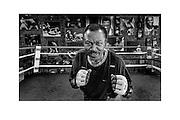 Boxer Joe Frazier in his gym in Philadelphia, Pa.<br /> <br /> Date: October 21, 2006