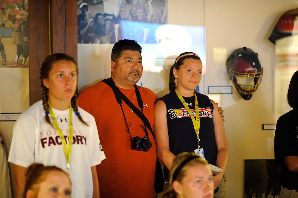 (photo by Matt Roth).Thursday, June 28, 2012..Softball Factory World Cup participants visit the National Softball Hall of Fame and Museum in Oklahoma City, Oklahoma Thursday, June 28, 2012.