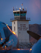 The tower at the Reno-Stead airport, shot at first light during the 2012 Reno Air Races.