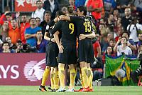 Atletico de Madrid's players celebrate goal during La Liga match. September 21,2016. (ALTERPHOTOS/Acero)
