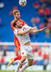 CARDIFF, WALES - Saturday, June 5, 2021: Wales' Rhys Norrington-Davies (L)  during an International Friendly between Wales and Albania at the Cardiff City Stadium in their game before the UEFA Euro 2020 tournament. (Pic by David Rawcliffe/Propaganda)
