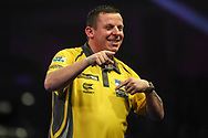 Dave Chisnall after his fourth round victory over Jamie Lewis during the World Darts Championships 2018 at Alexandra Palace, London, United Kingdom on 28 December 2018.