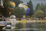 Bled, Slovenia, YUGOSLAVIA.    general View of the Rowing Course used for the 1989 World Rowing Championships, Lake Bled. [Mandatory Credit. Peter Spurrier/Intersport Images]