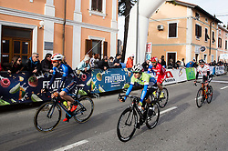 MOLTENI Marco (ITA)  and LAVRIČ Martin (SLO)  of Slovenian National Team at finish line during the UCI Class 1.2 professional race 4th Grand Prix Izola, on February 26, 2017 in Izola / Isola, Slovenia. Photo by Vid Ponikvar / Sportida
