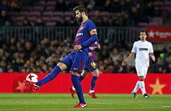 November 29, 2017 - Barcelona, Catalonia, Spain - Gerard Pique during the Copa del Rey match between FC Barcelona v Real Murcia CF,i n Barcelona, on November 29, 2017. (Credit Image: © Joan Valls/NurPhoto via ZUMA Press)