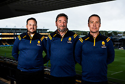 Worcester Warriors owners Jason Whittingham and Colin Goldring with Worcester Warriors Operations Director Peter Kelly - Mandatory by-line: Robbie Stephenson/JMP - 30/09/2020 - RUGBY - Sixways Stadium - Worcester, England - Worcester Warriors Owners