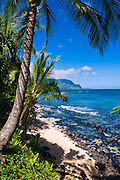 Hideaways Beach and the Na Pali Coast, Island of Kauai, Hawaii