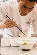 Chef Hideaki Sato at Ryu Gin, 101/F, International Commerce Centre, Hong Kong