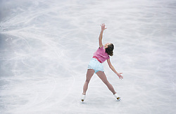 © Licensed to London News Pictures. 27/01/2017. Ostrava, CZ. Laurine LECAVELIER, from France, performs her Ladies Free Skating routine during the ISU European Figure Skating Championships in the Ostrava Arena in Ostrava, Czech Republic, on Friday January 27, 2017. Photo credit: Isabel Infantes/LNP