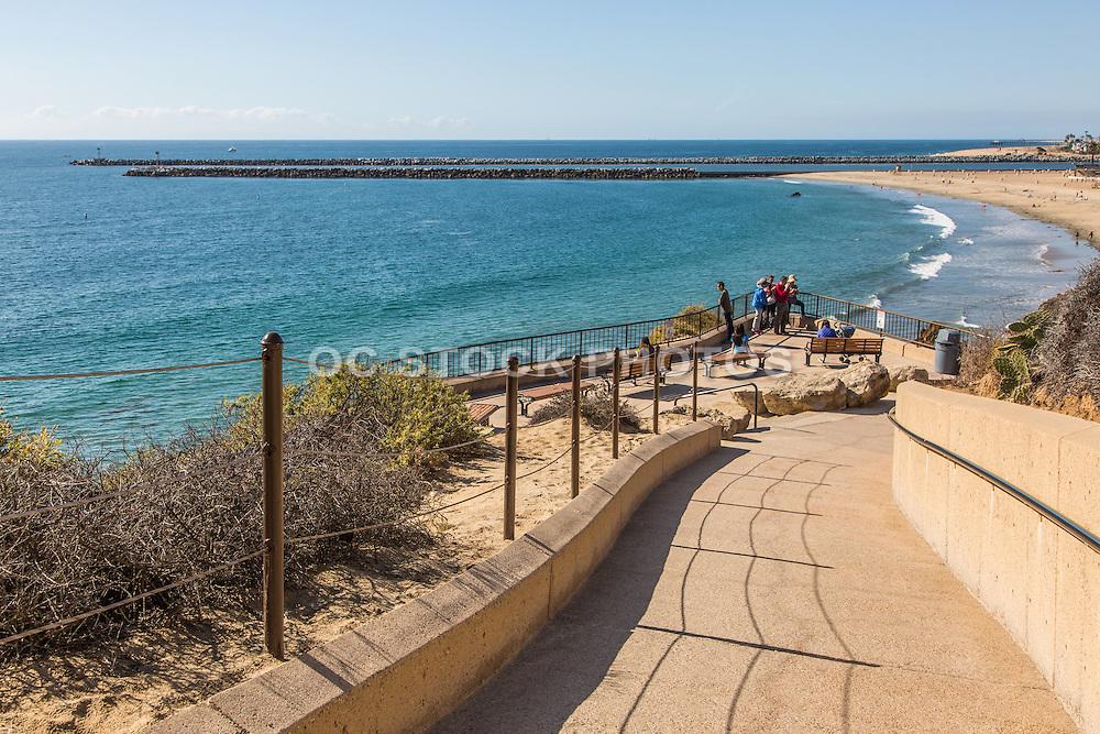 Pedestrian Walkway to Corona Del Mar State Beach