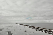 Nederland, Friesland, Breezanddijk, 10-02-2021; IJsselmeer met ijs, zicht op de Waddenzee. <br /> Winterlandschap. IJsselmeer with ice, a view of the Wadden Sea. Winter landscape.<br /> drone-opname (luchtopname, toeslag op standaard tarieven);<br /> drone recording (aerial, additional fee required);<br /> copyright foto/photo Siebe Swart