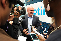 Mark Kelly, husband of gun violence victim and former U.S. Congresswoman Gabby Giffords, during a visit to City Hall on her 2016 Vocal Majority Tour on October 17, 2016 in New York City, NY, USA. Giffords, along with her husband NASA astronaut Mark Kelly, are on a six-week, nationwide bus tour to battleground states asking people to vote for candidates who support gun violence prevention legislation in this coming November election. The Vocal Majority Tour is a project of their national organization, Americans for Responsible Solutions PAC. Giffords, who has made a dramatic recovery, survived an assassination attempt in 2011 near Tucson, Arizona. Photo by Dennis Van Tine/ABACAPRESS.COM
