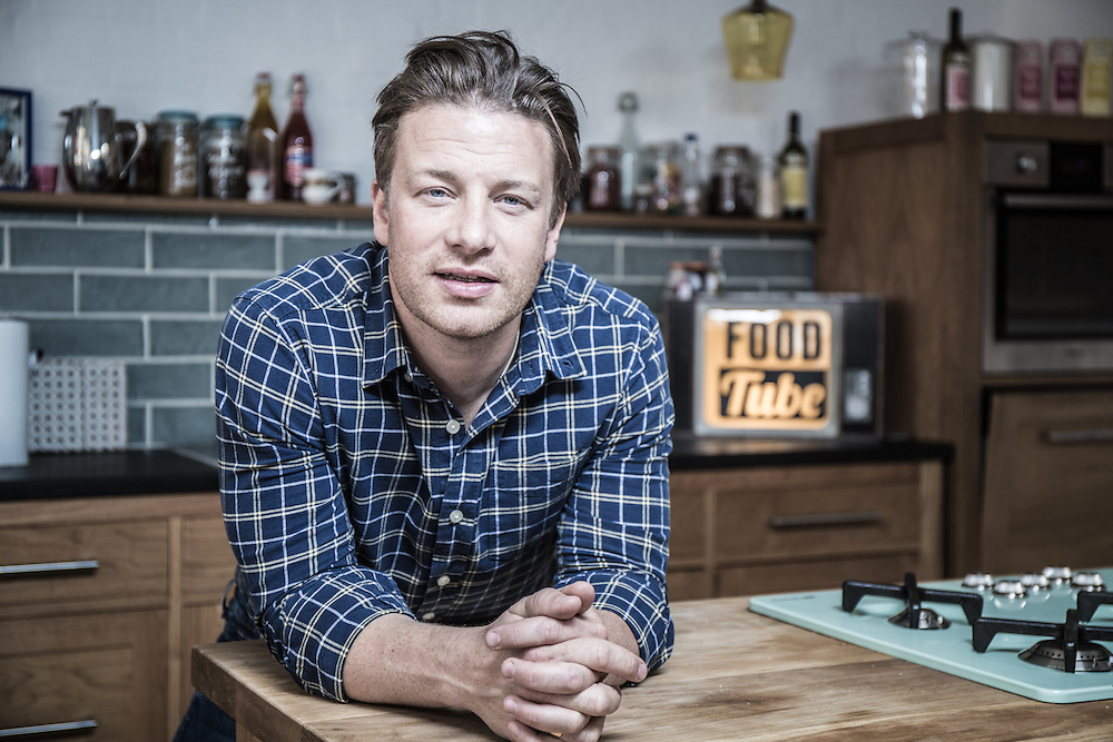 Portrait of Jamie Oliver at his offices in London on Monday 30th June 2014.<br /> <br /> <br /> Photos by Ki Price for the South China Morning Post