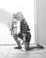 Portrait of a white pony and her human. Children's portrait with horse. Photograph of a young girl and her pony by Kristina Cilia Photography of Vacaville, CA.