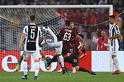 May 9, 2018 - Rome, Italy - Douglas Costa of Juventus scores the goal of 0-2  during the TIM Cup Final between Juventus and AC Milan at Stadio Olimpico on May 9, 2018 in Rome, Italy. (Credit Image: © Matteo Ciambelli/NurPhoto via ZUMA Press)