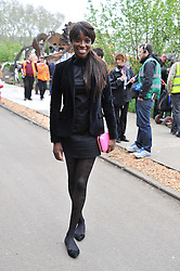 LORRAINE PASCALE at the 2012 RHS Chelsea Flower Show held at Royal Hospital Chelsea, London on 21st May 2012.