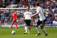 Fulham midfielder Kevin McDonald (6) plays a pass during the EFL Sky Bet Championship match between Ipswich Town and Fulham at Portman Road, Ipswich, England on 26 August 2017. Photo by Phil Chaplin.