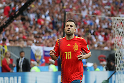 July 1, 2018 - Moscow, Russia - July 01, 2018, Russia, Moscow, FIFA World Cup 2018, the playoff round. Football match Spain - Russia at the stadium Luzhniki. Player of the national team Thiago (Credit Image: © Russian Look via ZUMA Wire)