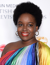 Lolly Adefope in the press room during the Virgin Media BAFTA TV awards, held at the Royal Festival Hall in London. Photo credit should read: Doug Peters/EMPICS