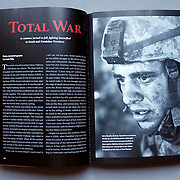 """""""Total War"""" special feature for  Afghanistan issue in Virginia Quarterly Review (VQR) with special gatefolds in layout including written essay by Louie Palu. (Credit Image: © Louie Palu/ZUMA Press)"""