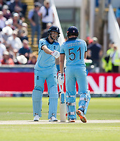 Cricket - 2019 ICC Cricket World Cup - Group Stage: England vs. NZ<br /> <br /> Jonny Bairstow of England Celebrates after hitting for 4 from Mitchell Satner of New Zealand, at the Riverside, Chester-le-Street, Durham.<br /> <br /> COLORSPORT/BRUCE WHITE