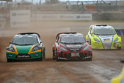 September 29, 2018 - Austin, Texas, U.S - 2018 World Rallycross racers in action during the World Rallycross of USA race at the Circuit of the Americas race track in Austin,Texas. (Credit Image: © Dan Wozniak/ZUMA Wire)
