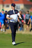 Conor Purcell (GB&I) on the 16th during Day 2 Foursomes of the Walker Cup, Royal Liverpool Golf CLub, Hoylake, Cheshire, England. 08/09/2019.<br /> Picture Thos Caffrey / Golffile.ie<br /> <br /> All photo usage must carry mandatory copyright credit (© Golffile   Thos Caffrey)