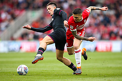 Muhamed Besic of Middlesbrough takes on Jack Grealish of Aston Villa - Mandatory by-line: Robbie Stephenson/JMP - 12/05/2018 - FOOTBALL - Riverside Stadium - Middlesbrough, England - Middlesbrough v Aston Villa - Sky Bet Championship