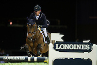 Daniel Deusser on Clintop competes during Hong Kong Jockey Club Trophy at the Longines Masters of Hong Kong on 19 February 2016 at the Asia World Expo in Hong Kong, China. Photo by Juan Manuel Serrano / Power Sport Images