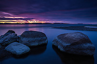 Twilight glow, Lake Champlain, Charlotte, Vermont
