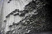 Tubular basalt columns at Reynisfjara beach, Southern Iceland