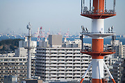 communication tower for various purposes at a coastal Tokyo bay town Yokosuka