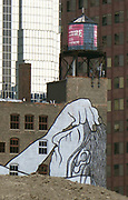 Mural on a building Downtown Chicago Illinois