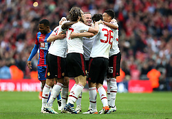Manchester United celebrate winning the FA Cup Final against Crystal Palace - Mandatory by-line: Robbie Stephenson/JMP - 21/05/2016 - FOOTBALL - Wembley Stadium - London, England - Crystal Palace v Manchester United - The Emirates FA Cup Final