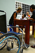 Belo Horizonte_MG, Brasil...Adolescente deficiente no projeto Escola Aberta na Escola Municipal Helio Pelegrino...The teenager with disabilities in the project Escola Aberta in the Helio Pelegrino Municipal School...FOTO: BRUNO MAGALHAES /  NITRO