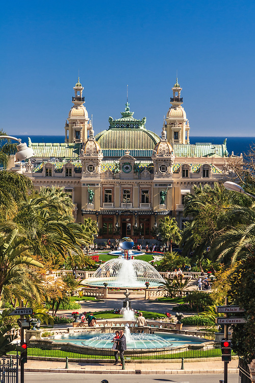 The Monte Carlo Casino in Monaco. It is one of the most well-known tourist attractions of Monaco. The casino complex is not only a gambling facility, but it also includes the Grand Théâtre de Monte Carlo, and opera and ballet house.