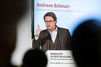 """19 NOV 2018, BERLIN/GERMANY:<br /> Andreas Scheuer, CSU, Bundesminister fuer Verkehr und digitale Infrastruktur, F.A.Z. Konferenz """"Mobilitaet in Deutschland - Zeit fuer neues Denken und Handeln"""", F.A.Z. Atrium<br /> IMAGE: 20181119-01-073<br /> KEYWORDS: F.A.Z."""