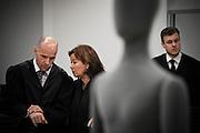 Lawyers of terrorist Anders Behring Breivik appears in court. From left, Geir Lippestad, Vibeke Hein Baera and Tord Eskild Jordet.