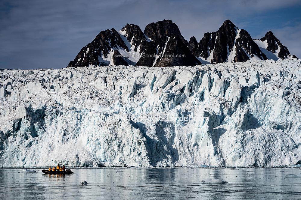 Glacier at Krossford, Spitsbergen, Norway